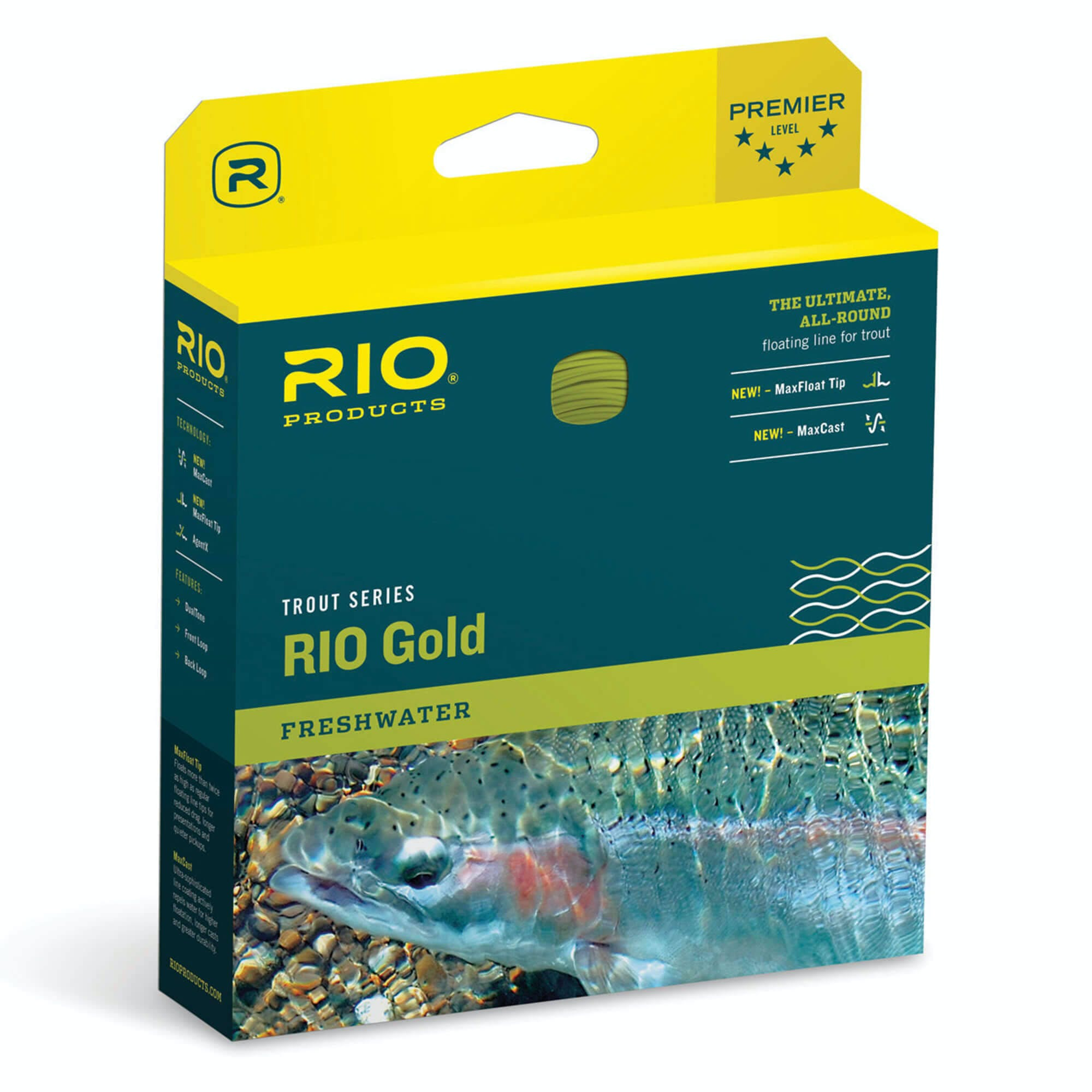 Rio Gold Fly Line - Moss/Gold - WF8F