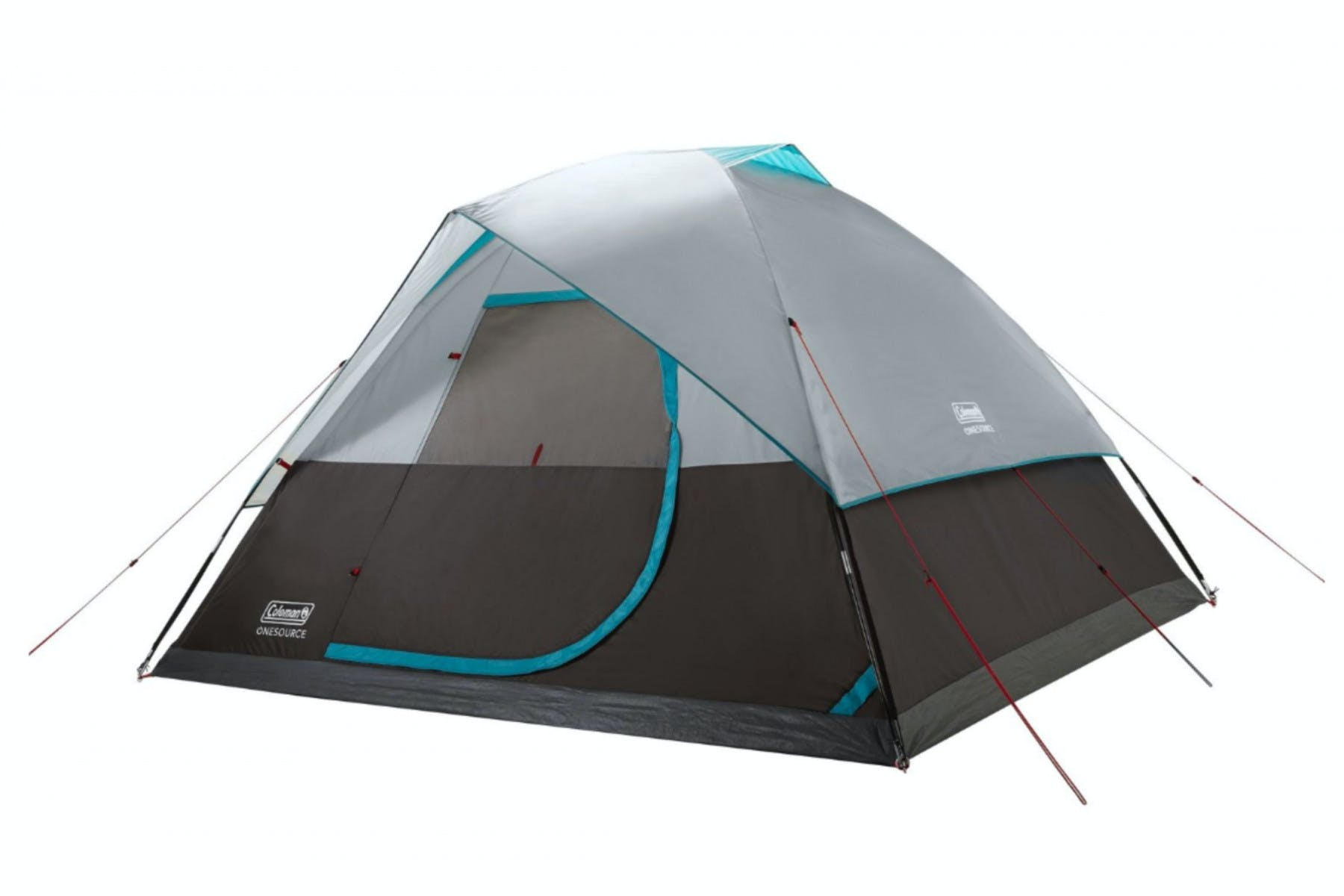 Coleman - OneSource Rechargeable 6-Person Dome Tent with Airflow System & LED Lighting