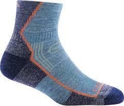 Darn Tough 1958 Women's Hiker 1/4 Socks Cushion in Denim, Size Small