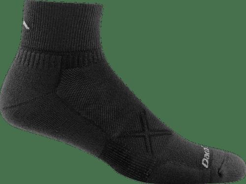 Darn Tough Men's Vertex 1/4 UL Socks in Black, Size Medium