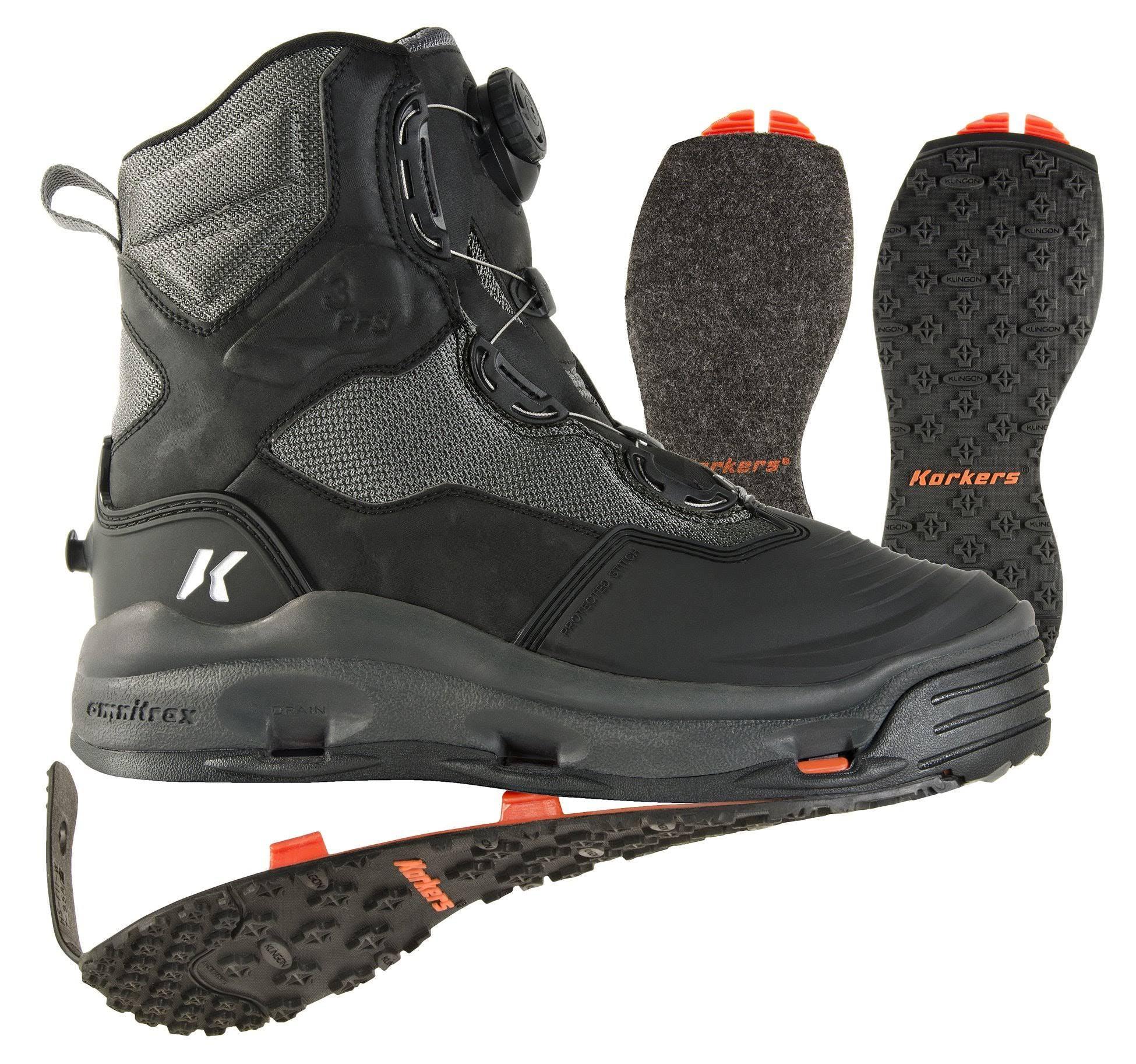 Korkers Darkhorse Wading Boot - Felt & Kling on 8