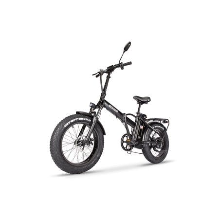 "SOHOO 48V500W12AH E-Bike 20"" Folding Step-Over Fat Tire Electric Bike Adult Mountain Bicycle foldable Snow Electric Bicycle(Black)"