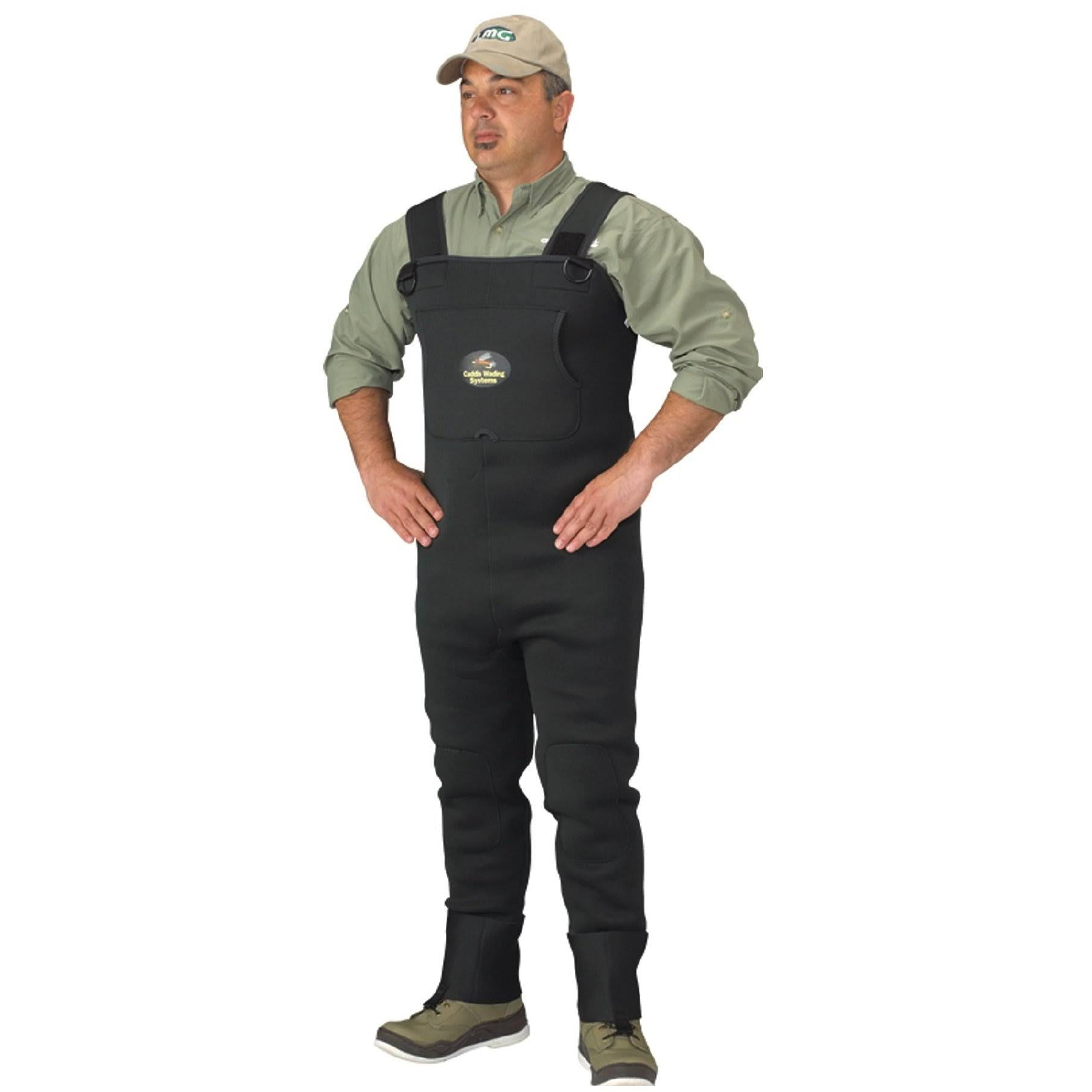 Caddis Men S Neoprene Stockingfoot Waders - XXL Stout Green