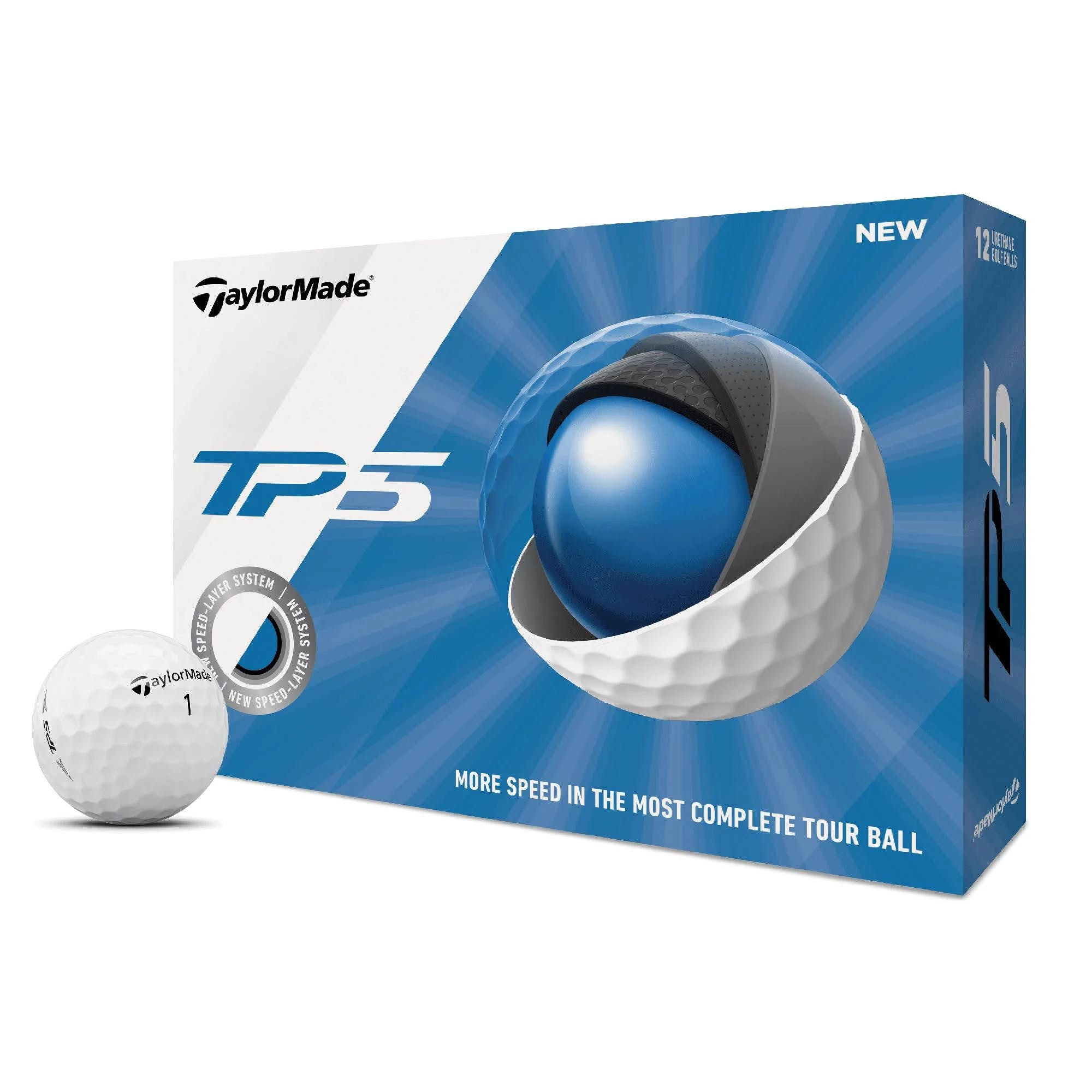 TaylorMade TP5 Golf Balls, White