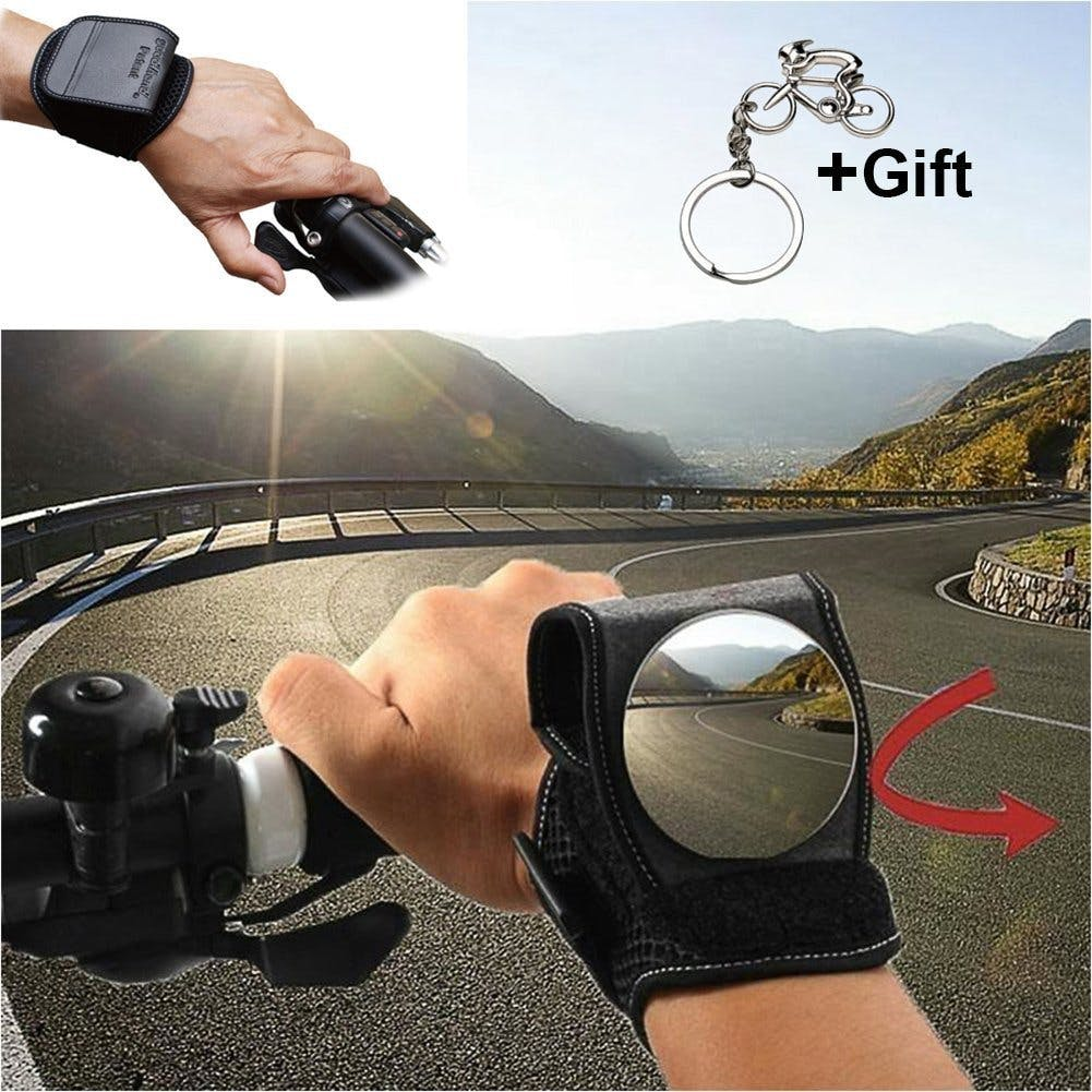 Cycling Mirrors for a Bike, Bicycle Wrist Safety Rear View Mirror for Kids Men and