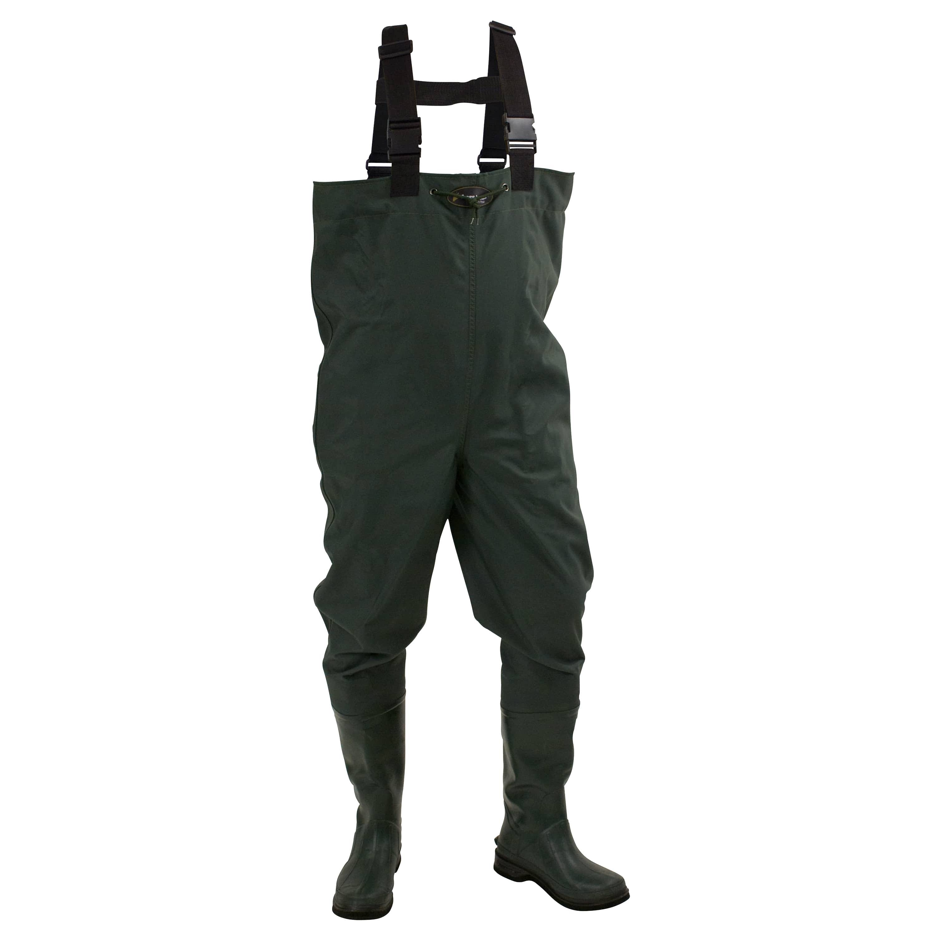 Frogg Toggs Cascades 2Ply Rubber Bootfoot Chest Wader - Felt Forest Green 13