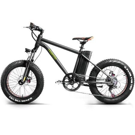 NAKTO MINI CRUISER 20inch Fat Tire Electric Bicycle 300W 36V 10Ah 6 Speed Black