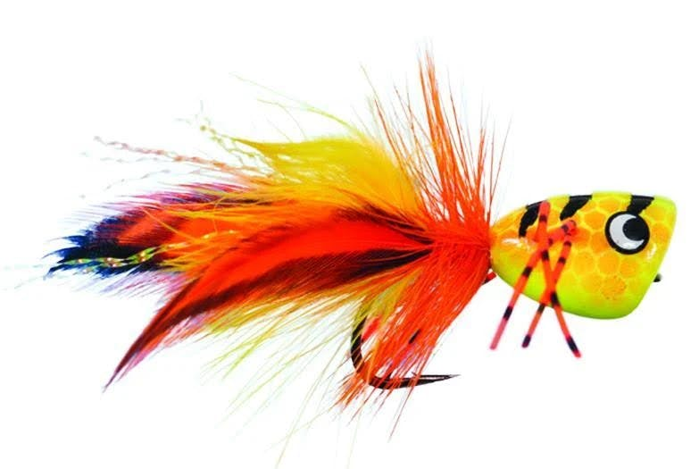 Tigger Bass Popper by Solitude, #4 (with Weed Guard)