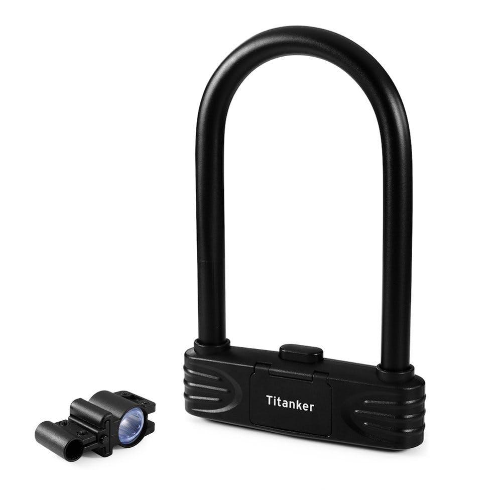 Titanker U Lock Bike Lock Heavy Duty Combination Bike U Shackle Secure Locks...