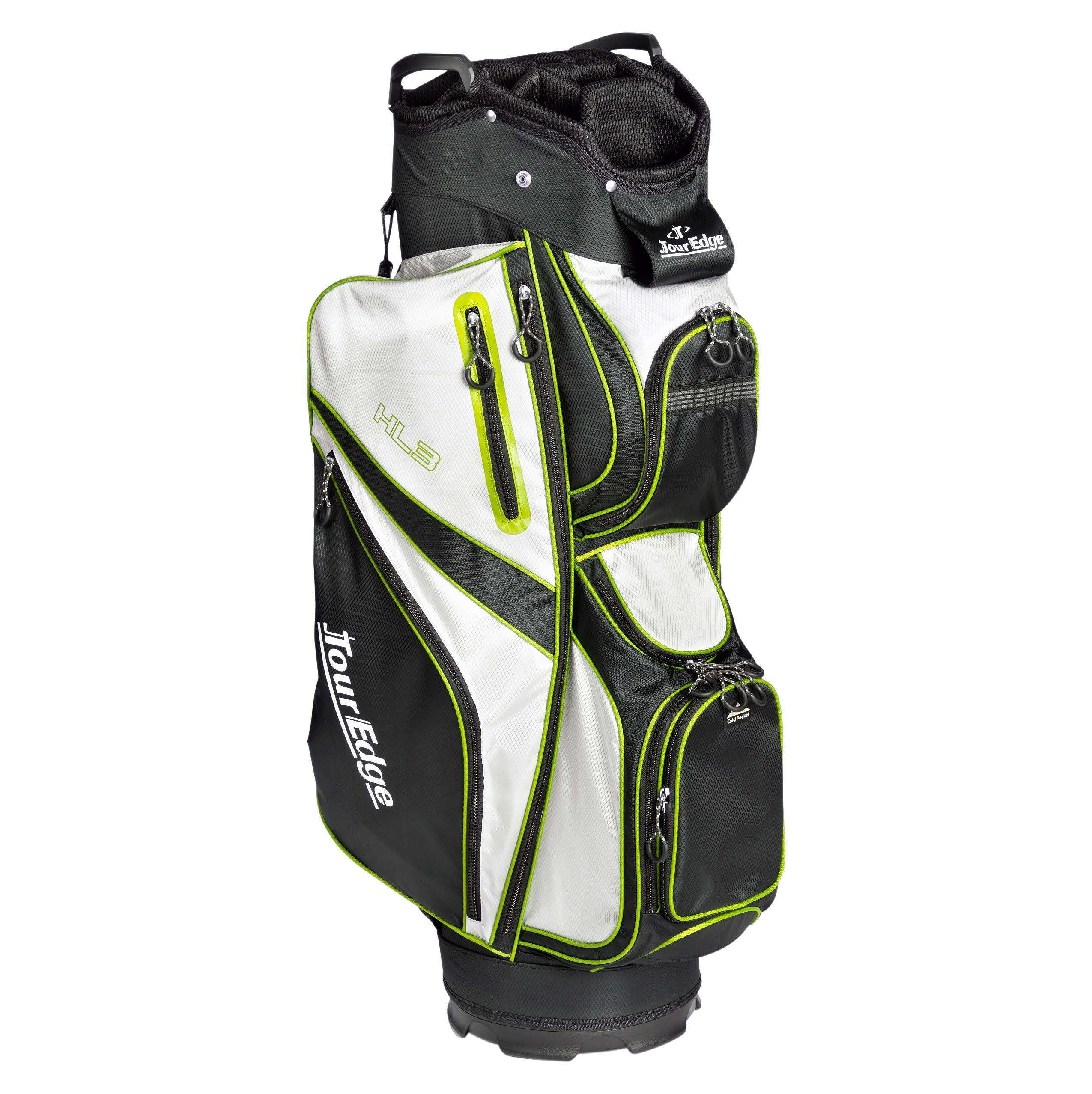 Tour Edge HL3 Golf Cart Bag, Black/Silver/Lime