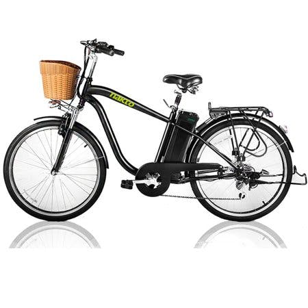 NAKTO City Electric Bicycle 250W 36V 10A for Men 26 inch CAMEL Black