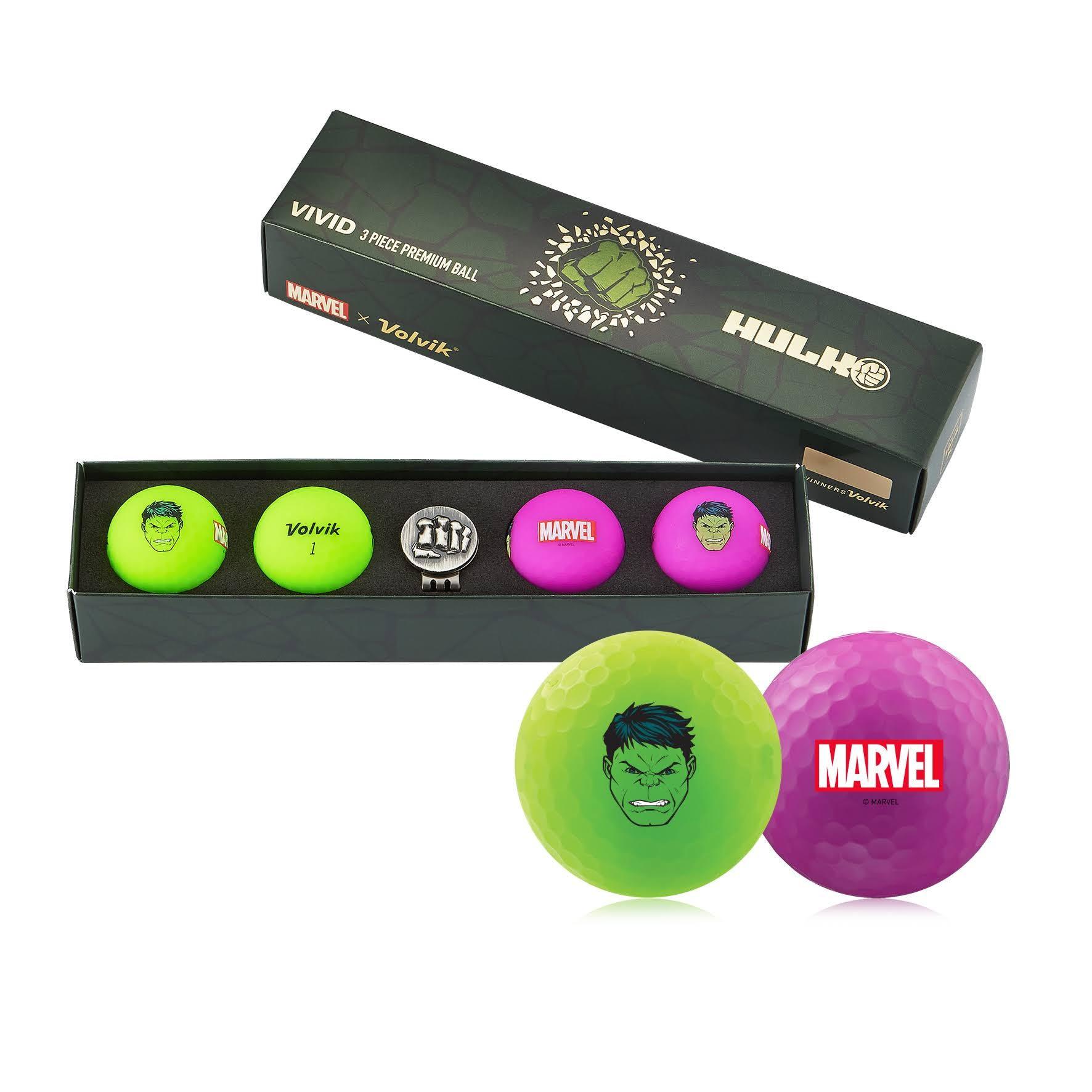 Volvik Vivid Marvel Golf Balls The Hulk 4-Ball Pack