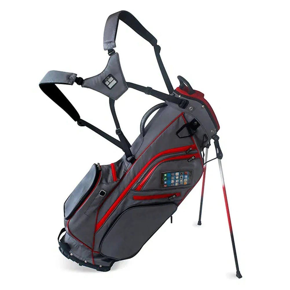 JCR Golf- Rl350 Stand Bag Charcoal Gray/Red