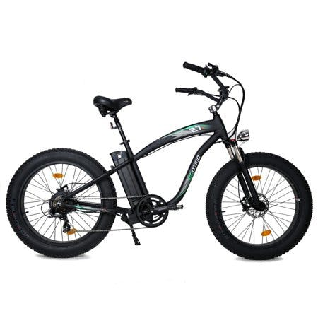 "26""×4? Fat Tire Electric Bike e-bike Mountain Beach Snow Bicycle w/ Shimano 7 Speeds Black Removable Lithium Battery NEW 1000W 48V 48V 13Ah Lithium battery Pedal Assist Black frame and Black rims"