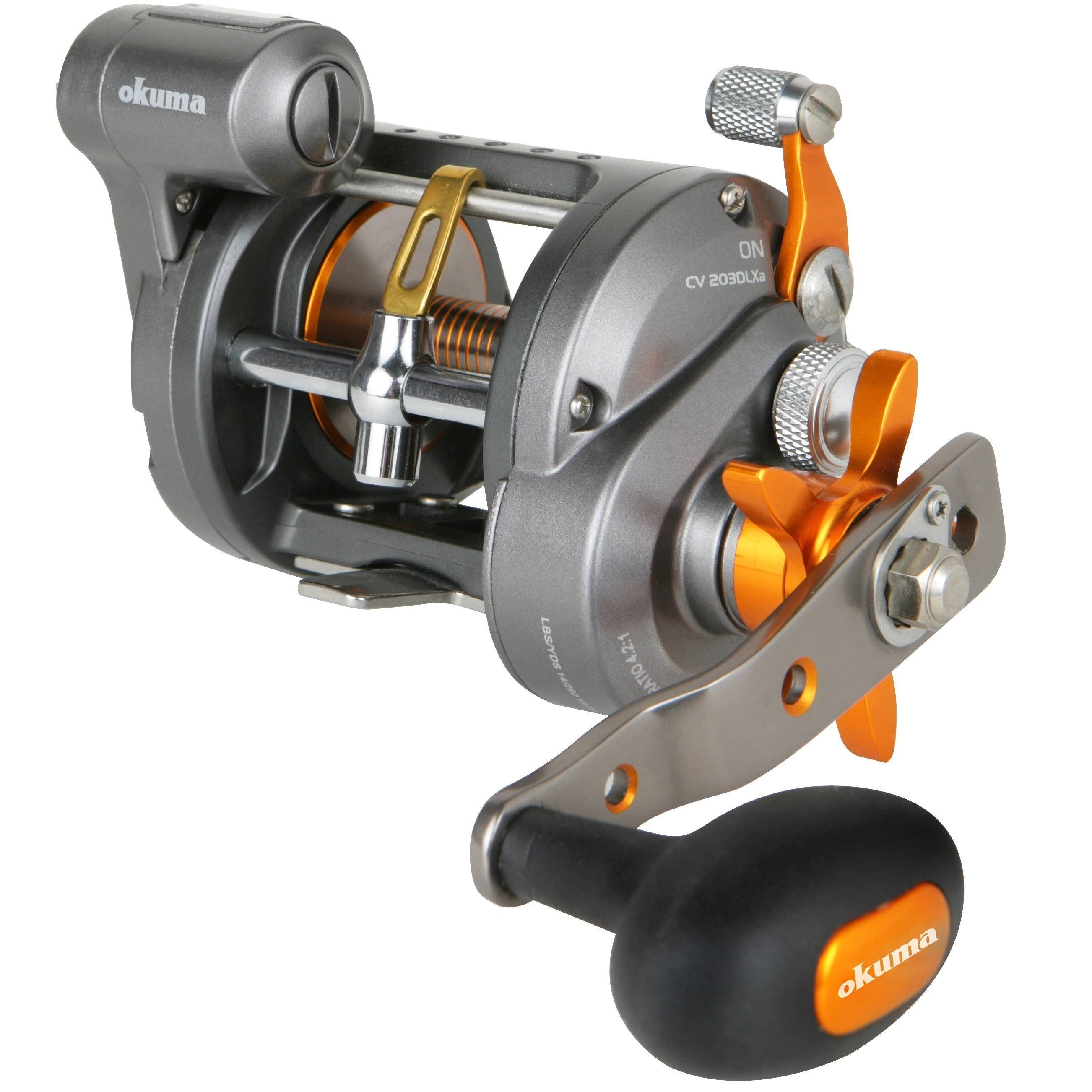 Okuma Cold Water Line Counter Baitcasting Reels, Silver