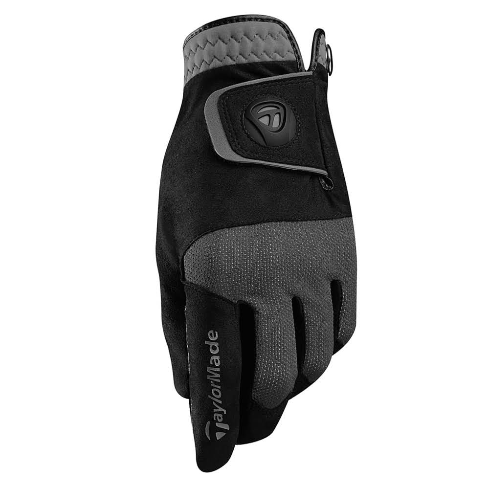 TaylorMade Golf Rain Control Gloves Size Small | Black/Gray