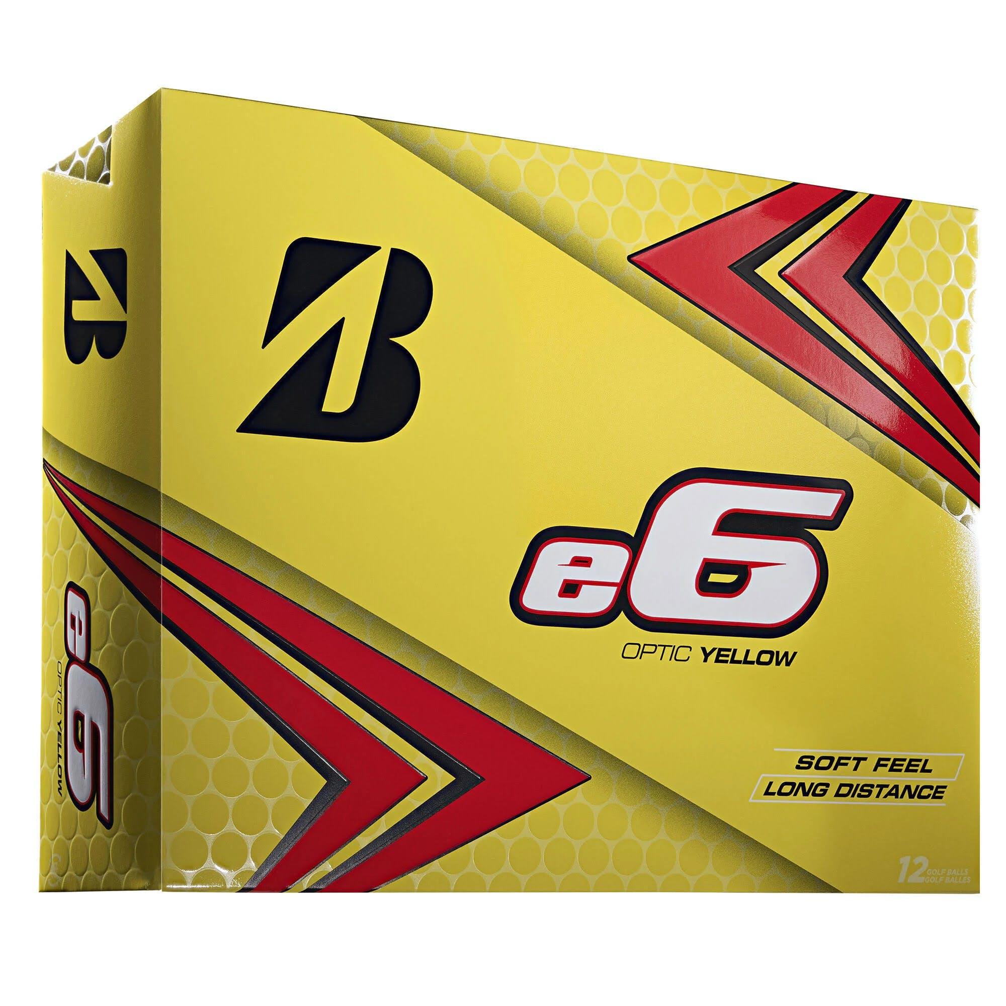 Bridgestone E6 Golf Balls, Yellow