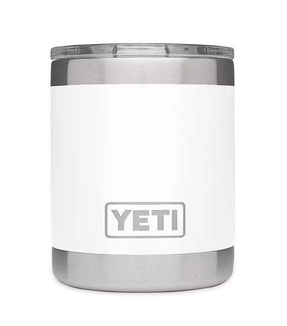 YETI COOLERS - RAMBLER 10OZ LOWBALL - White