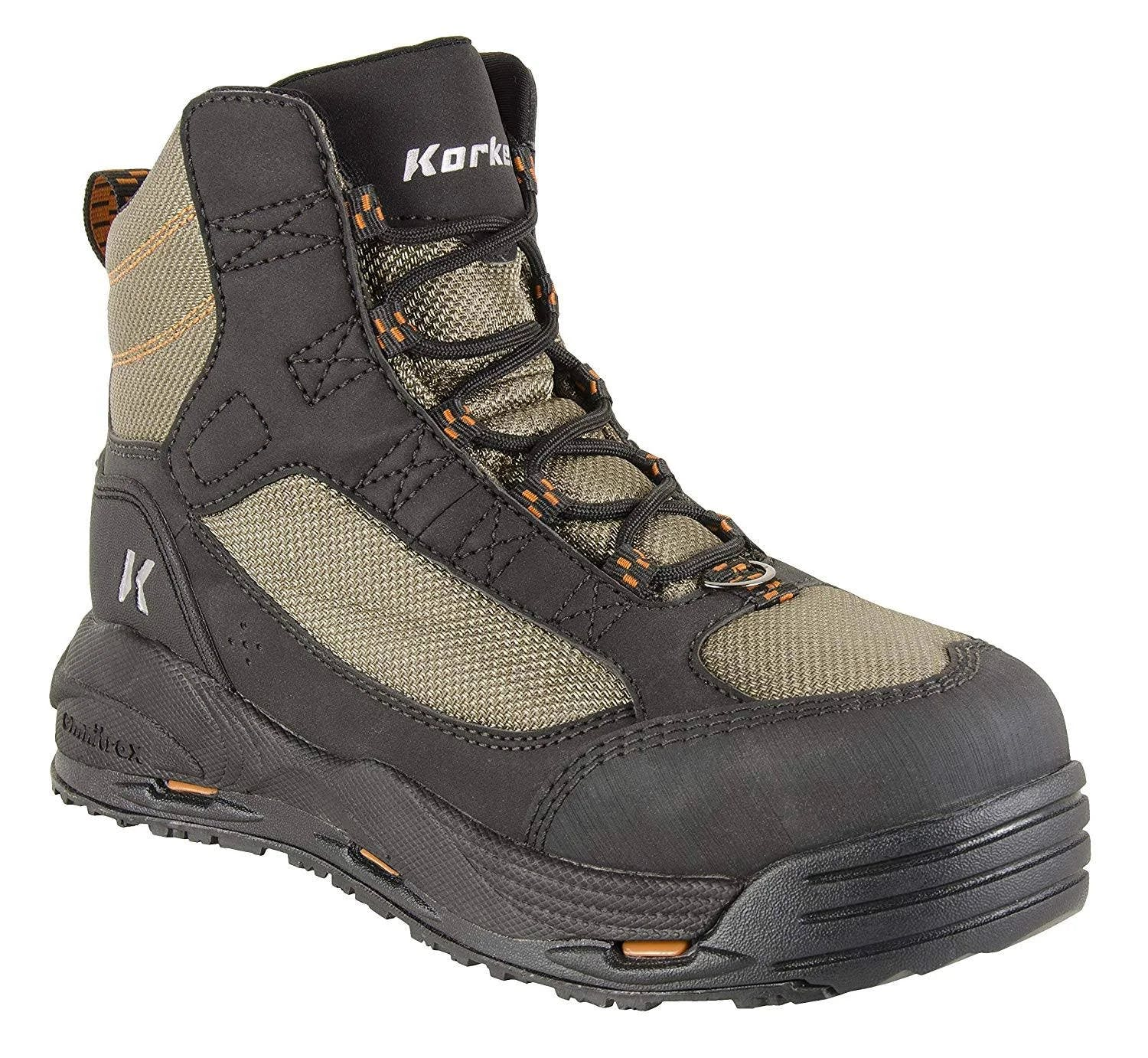 Korkers Greenback Wading Boots, Felt/Kling-On boot_size:12
