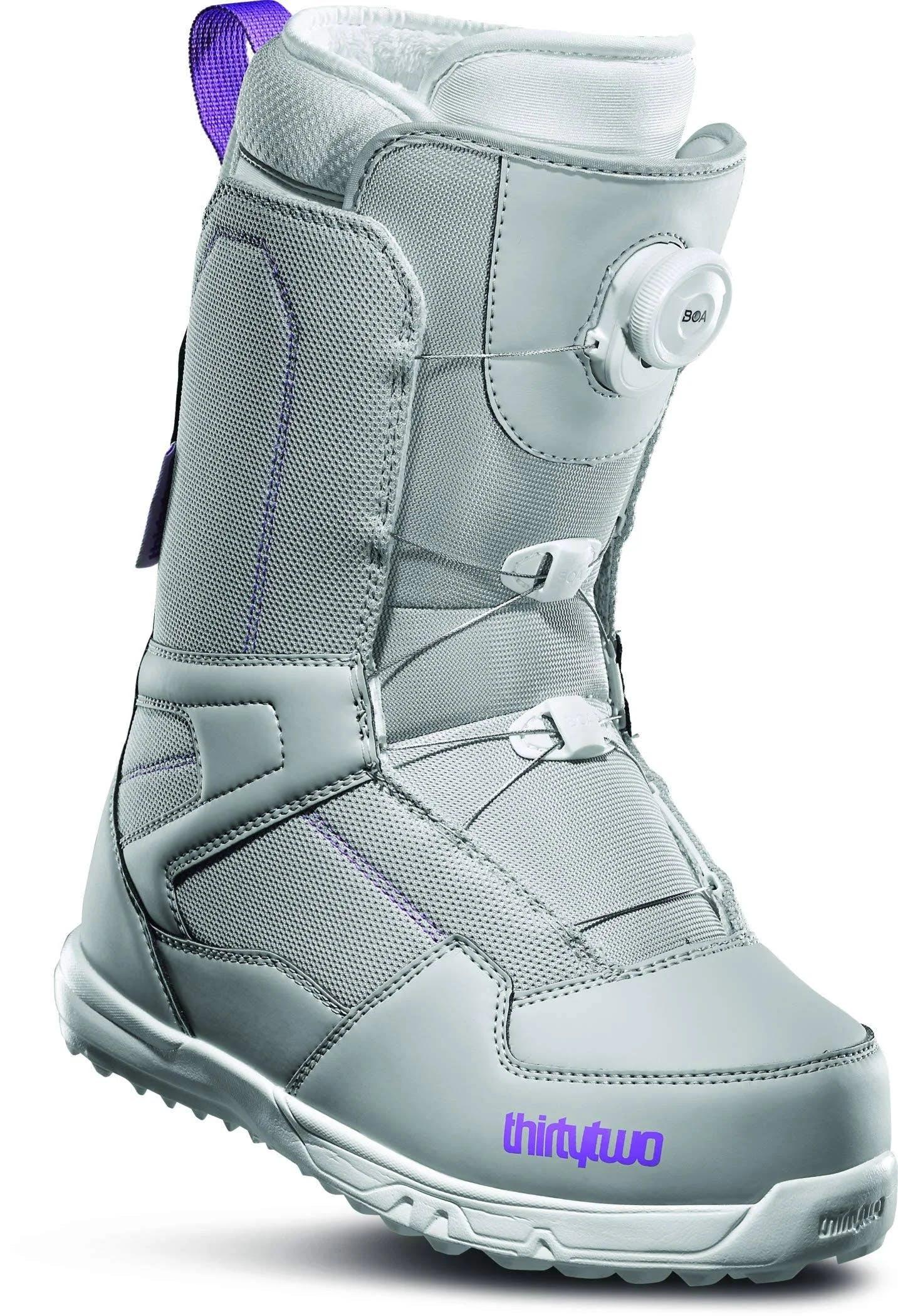 thirtytwo Shifty BOA Snowboard Boots Women's Grey/purple 9.0
