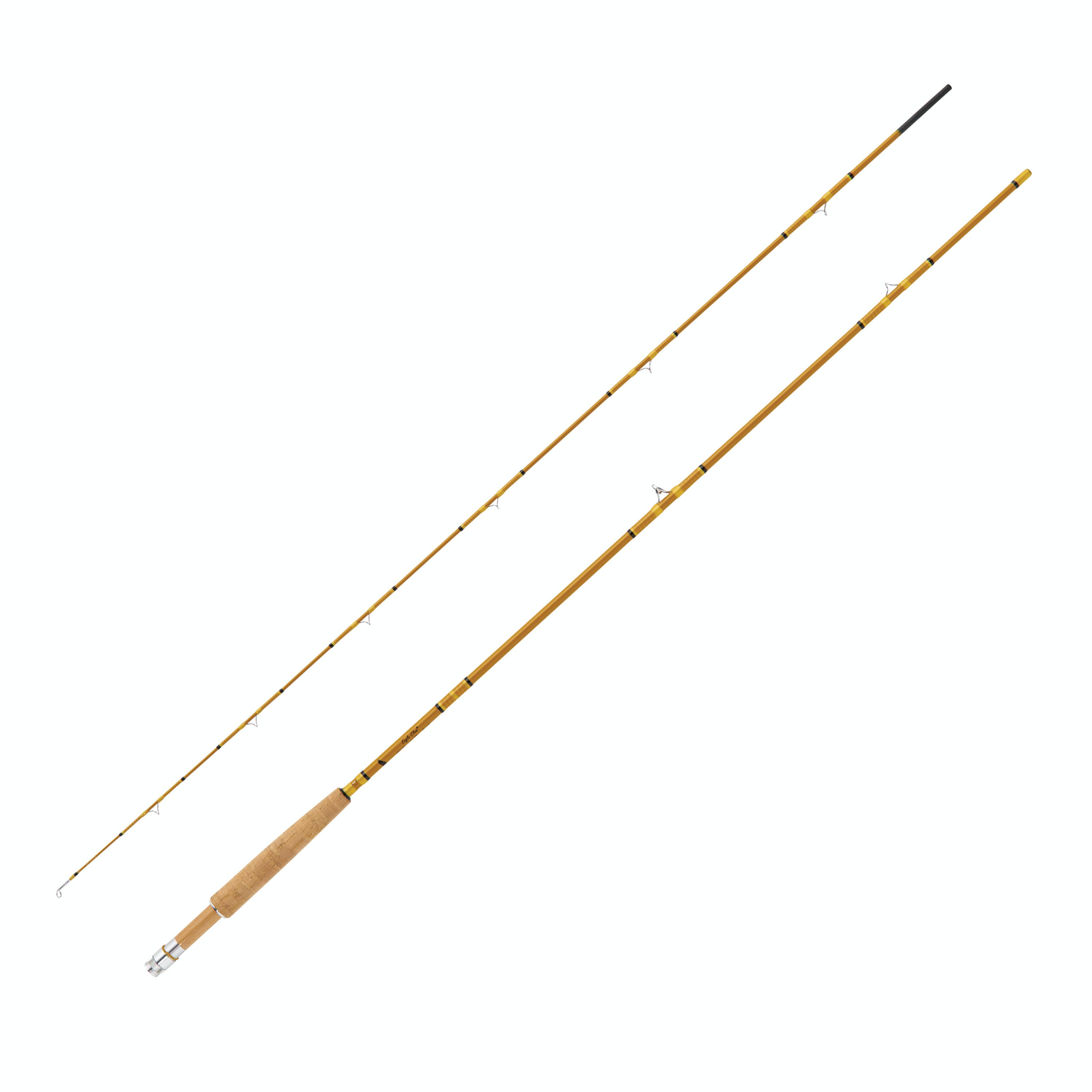 """Eagle Claw Crafted Glass Fly Rod 7'6"""" 2 PC 3 Line WT"""