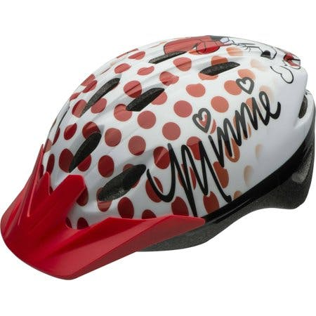 Bell Sports Disney Minnie Mouse Rock the Dots Child Bike Helmet, White/Red
