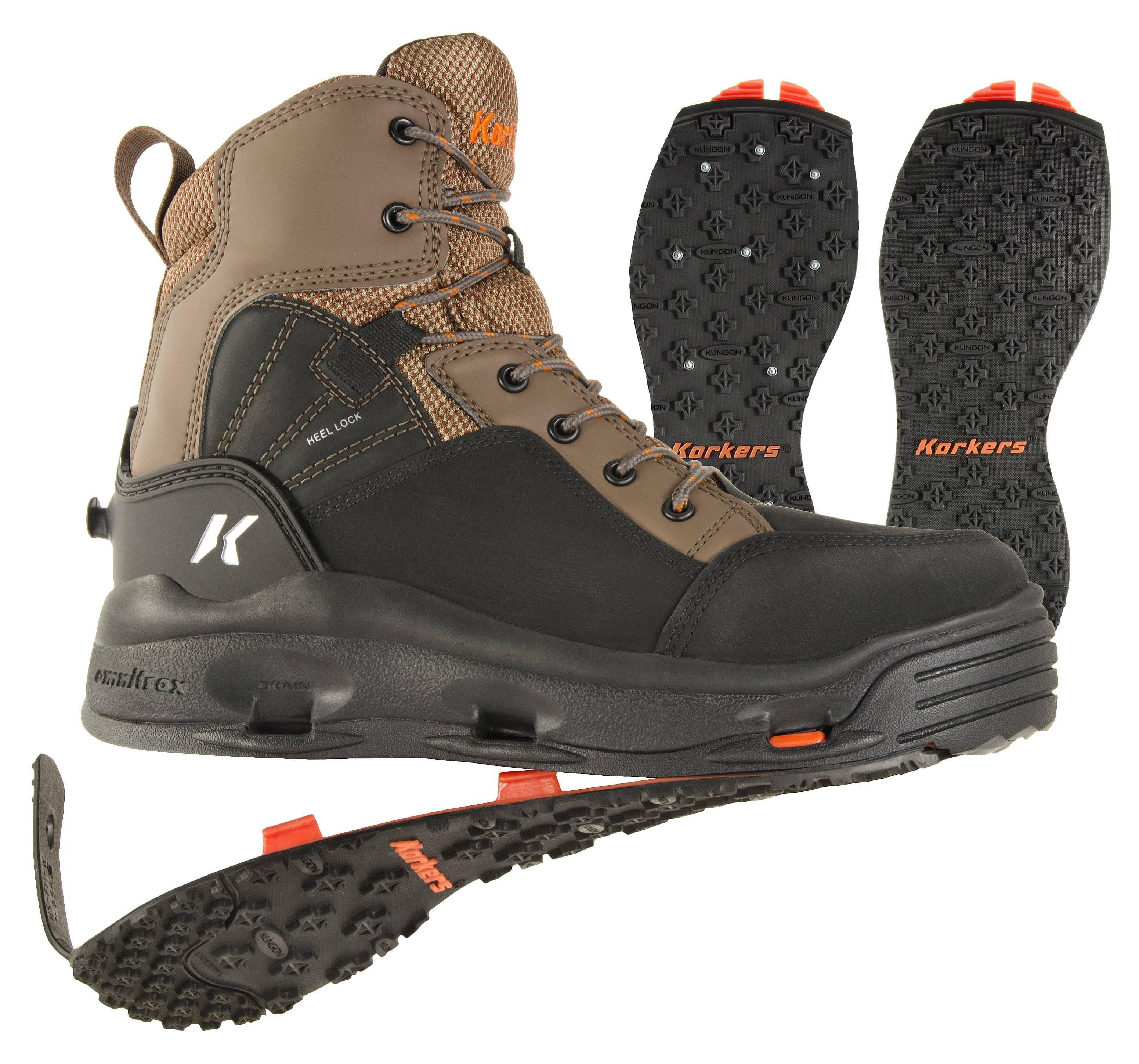 Korkers Buckskin Wading Boot - Felt & Kling-On 12