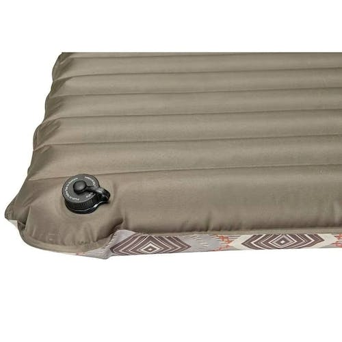 Wenzel 4-Inch Double NeverFlat Fabric Air Pad