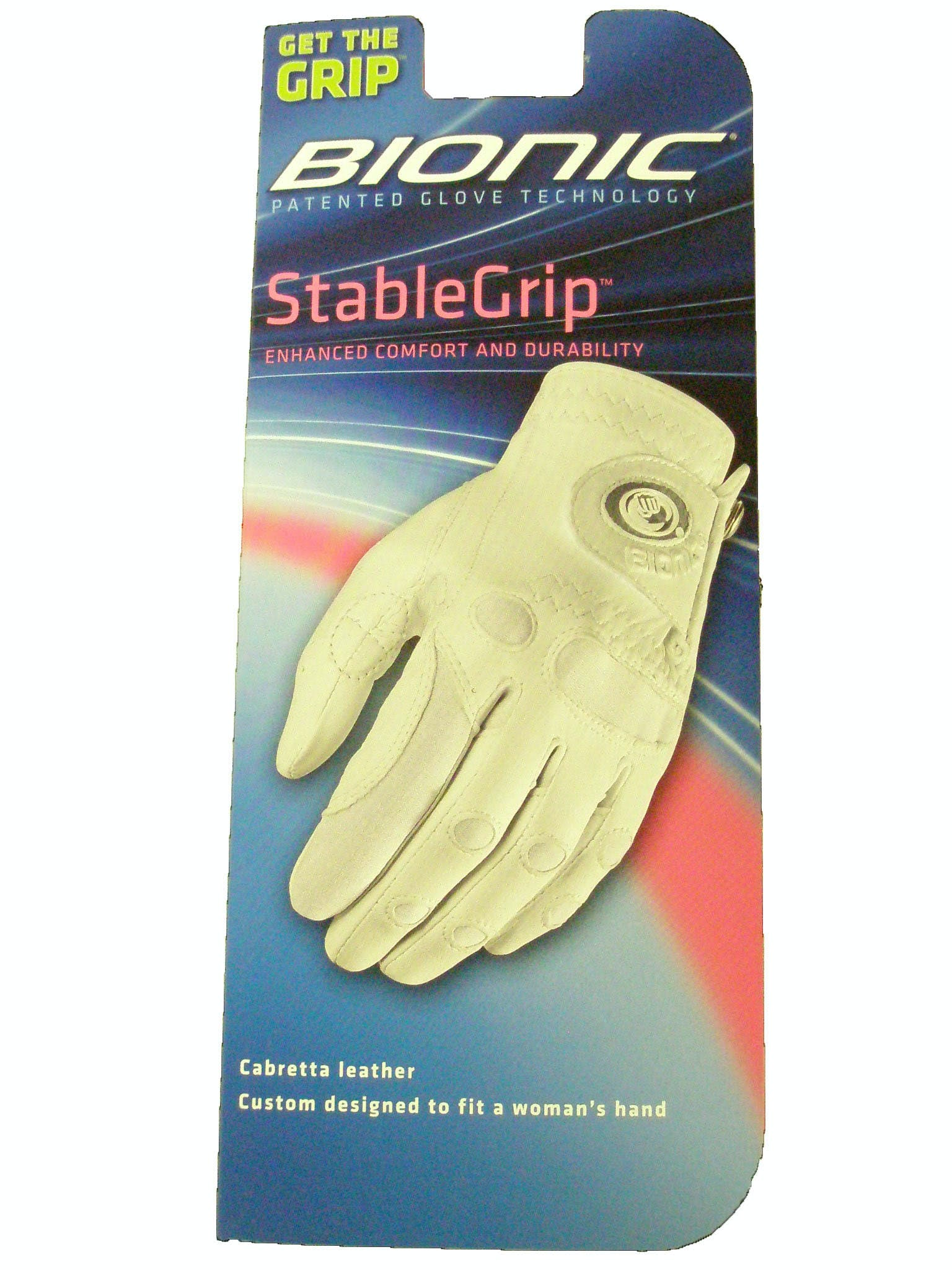 Bionic Women's Left Hand StableGrip Golf Glove - Small - White