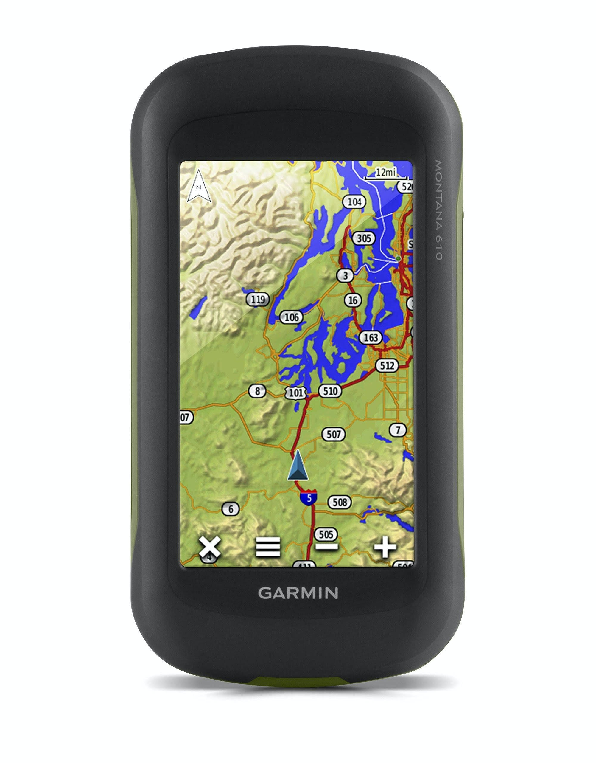 "Garmin Montana 610 Hiking GPS Navigator - 4"" - widescreen Display"