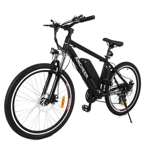 "Ancheer 26"" 500W Electric Mountain Bike Aluminum Alloy Frame Cycling Electric Bicycle with Removable 12.5Ah Lithium-Ion Battery for Men Adults"