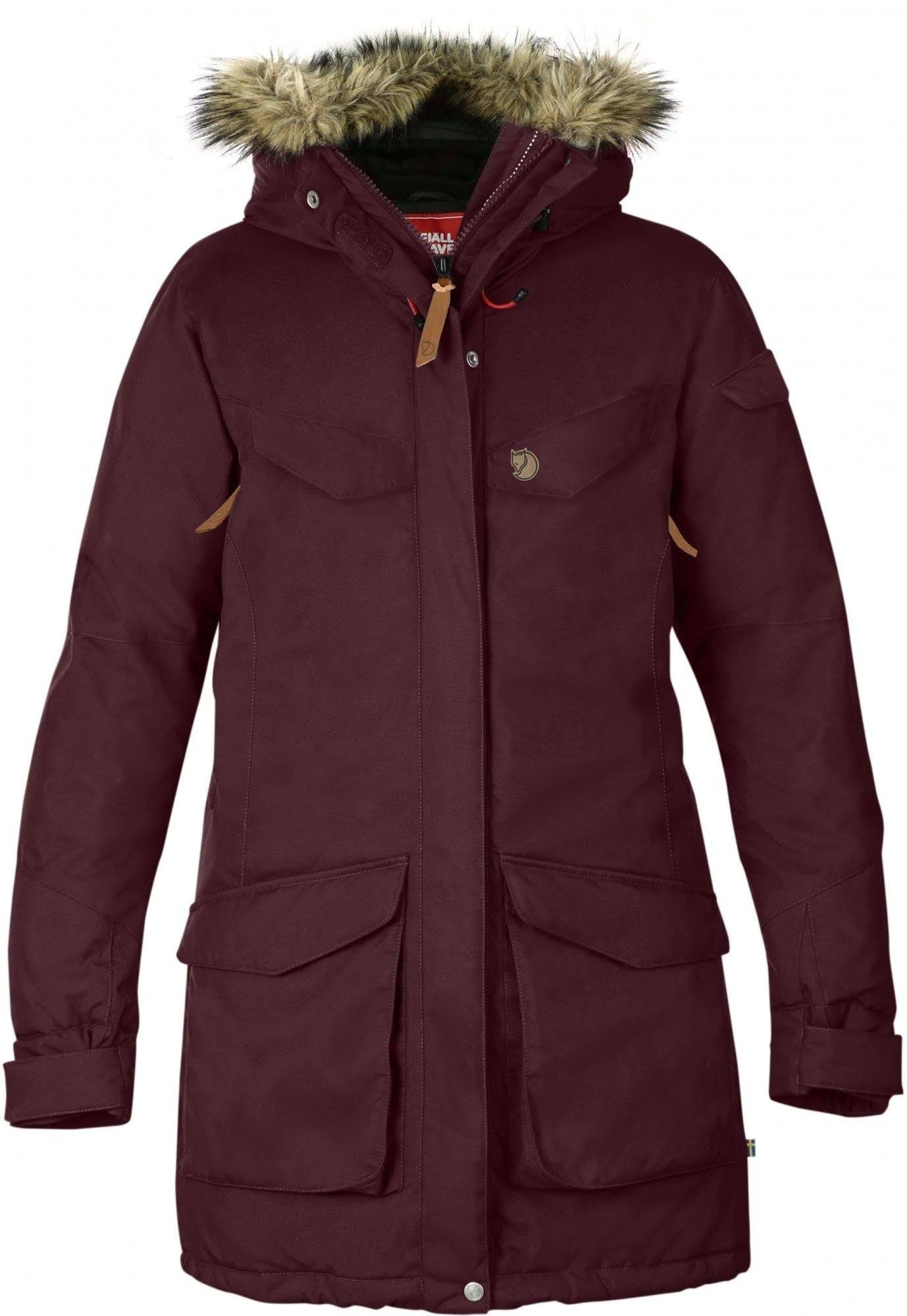 Fjallraven Women's Nuuk Parka Dark Garnet L Jacket