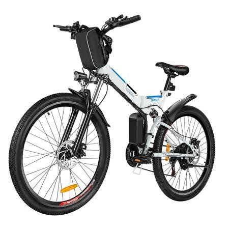 "ANCHEER Bicycle Clearance! 26"" Foldable Mountain Bike Electric Power Bicycle Damping with Lithium-Ion Battery 36V"