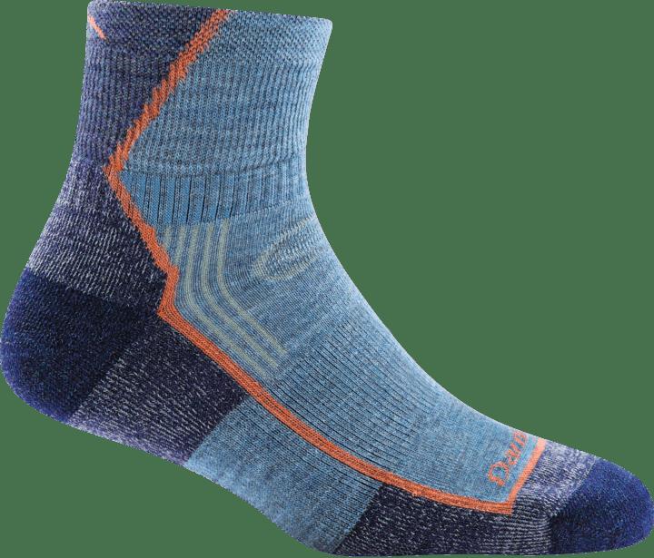 Darn Tough Women's Hiker 1/4 Midweight Cushion Socks in Denim, Nylon, Size Small