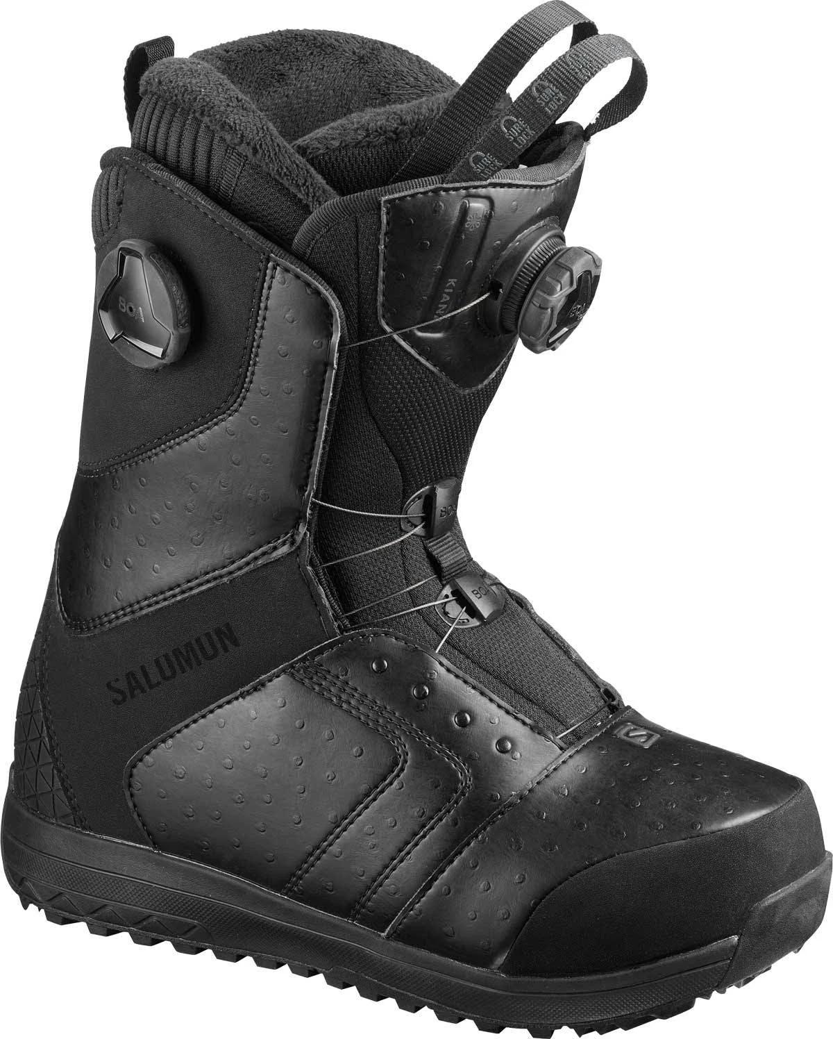 Salomon Women's Kiana Focus BOA Snowboard Boots Black 7