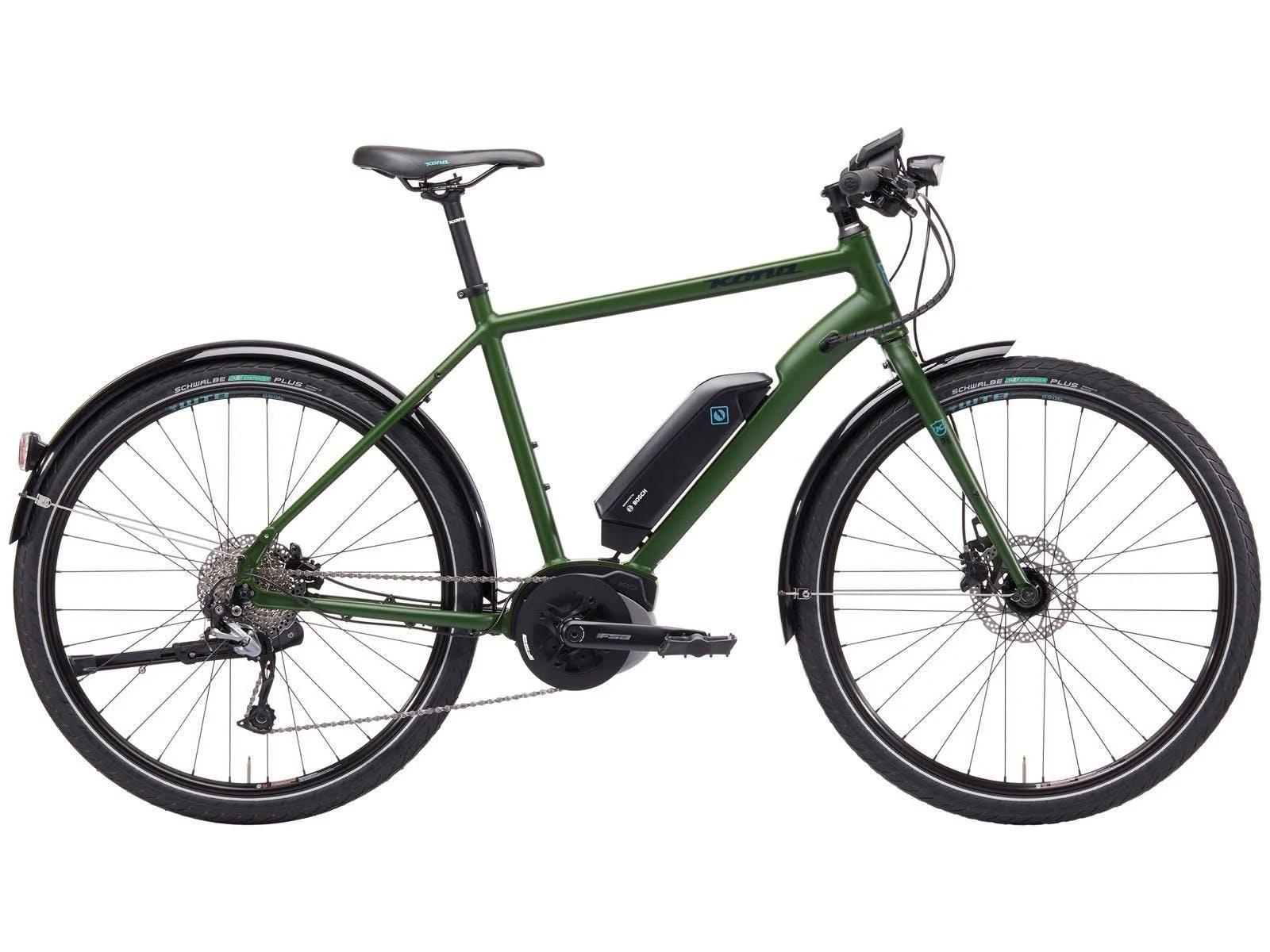 Kona Green Dew-E Electric Hybrid Bike · 2019