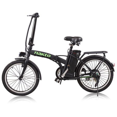 NAKTO Foldable Electric 250W 36V 10Ah Bicycle With LED Bulb 20inch FASHION · Black