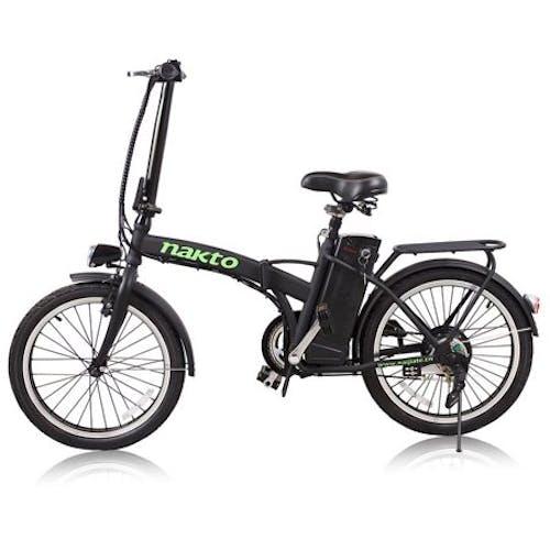 NAKTO Foldable Electric 250W 36V 10Ah Bicycle With LED Bulb 20inch FASHION · Black