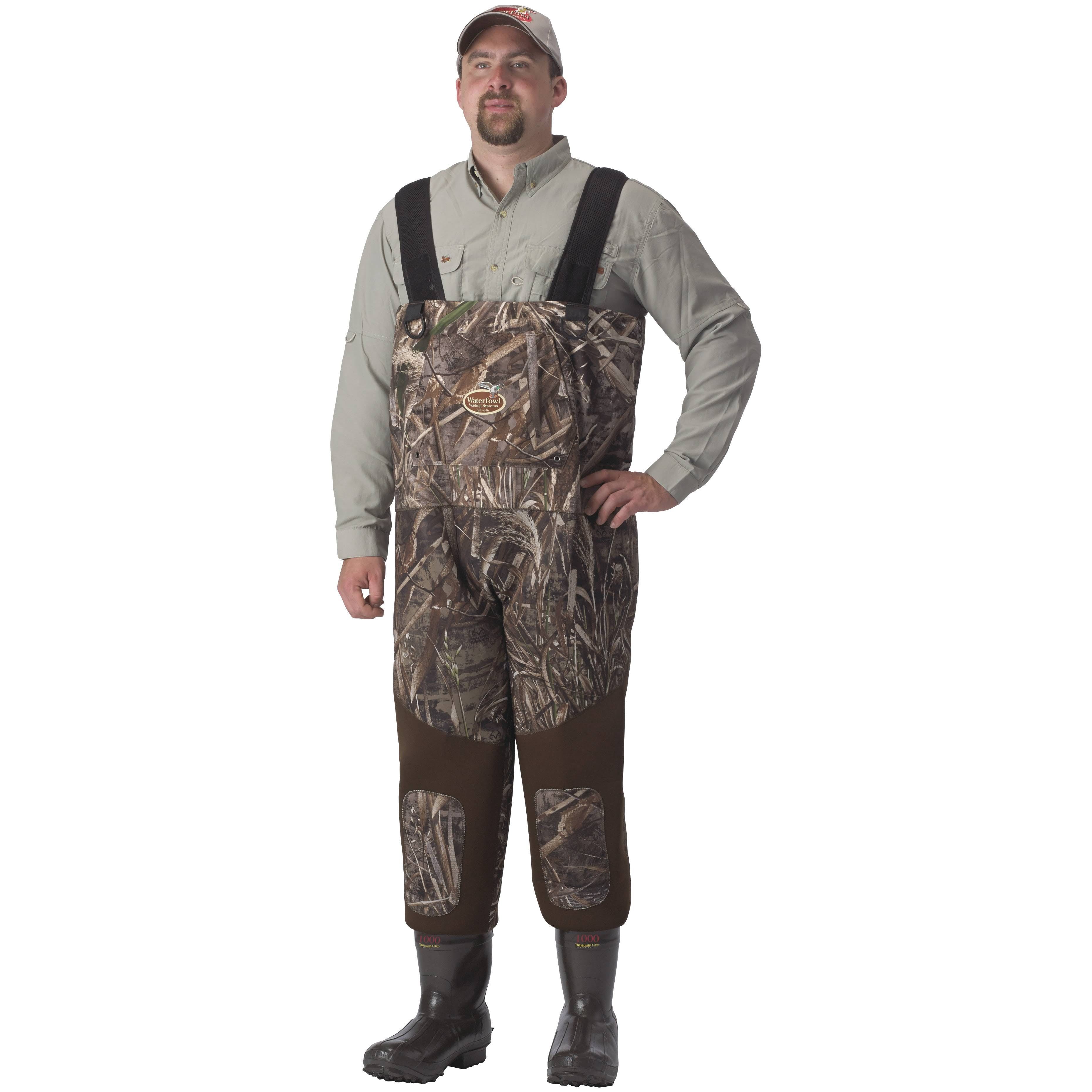 Caddis Men's NeoBreathable Hybrid Waders Stout - Realtree Max-5