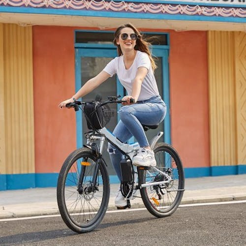"""ANCHEER 26"""" Foldable Electric Power Mountain Bike Bicycle with Lithium-Ion Battery 36V HFON"""