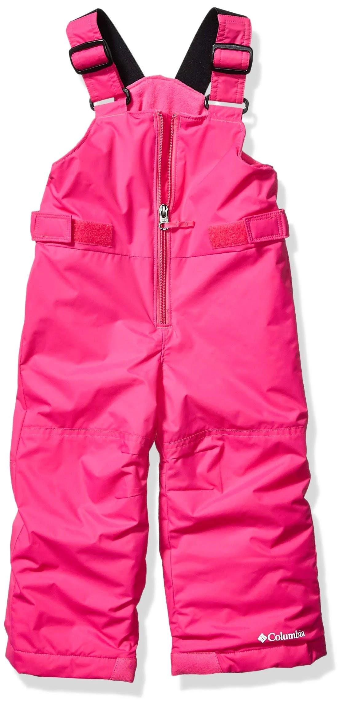 Columbia Girls' Snowslope II Bib XL Pink Pants