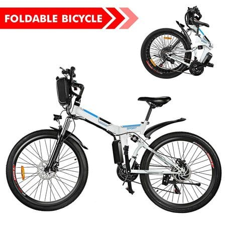 "ANCHEER 26"" Foldable Electric Power Mountain Bike Bicycle with Lithium-Ion Battery 36V HFON"