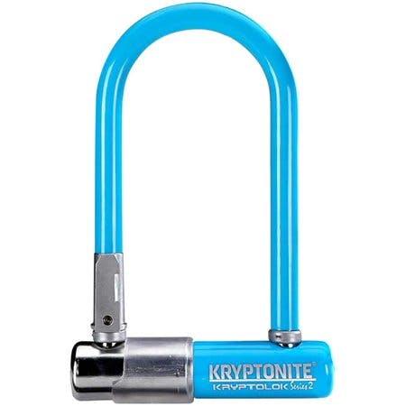 Kryptonite Krypto Series 2 Mini-7 U-Lock - 3.25 x 7 Keyed Blue Includes bracket