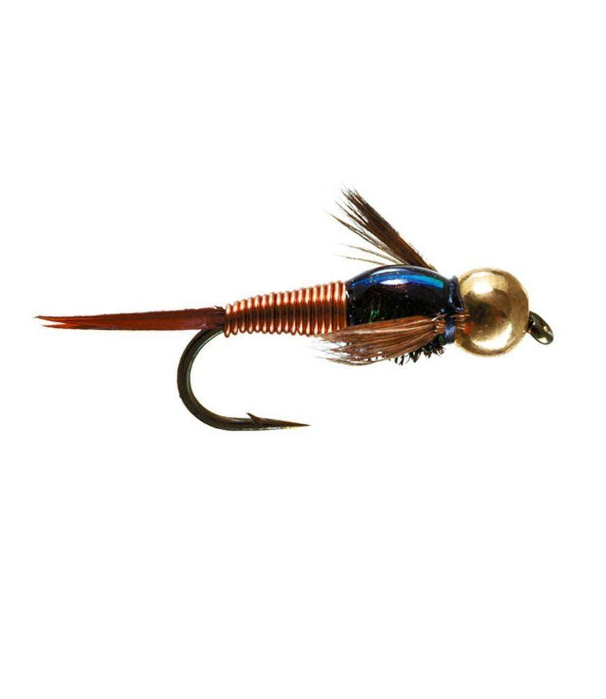 Umpqua Barr's Copper John - 2-Pack Gold Bead/Red, 12