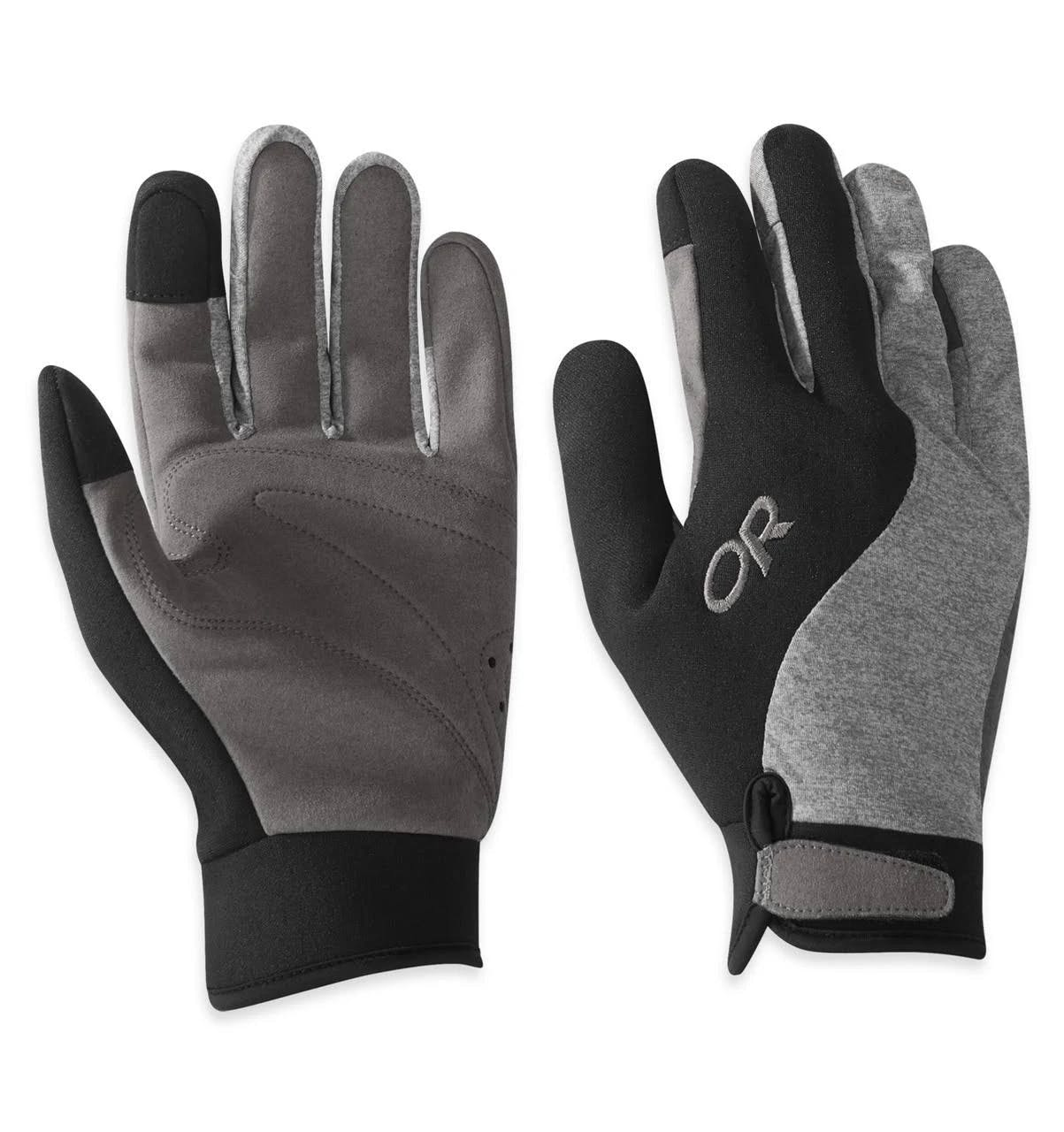 Outdoor Research Upsurge Paddle Gloves Black/charcoal Heather Small