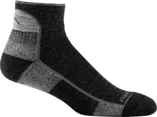 Darn Tough 1959 Men's Hike/Trek 1/4 Socks Cushion in Black, Size XL