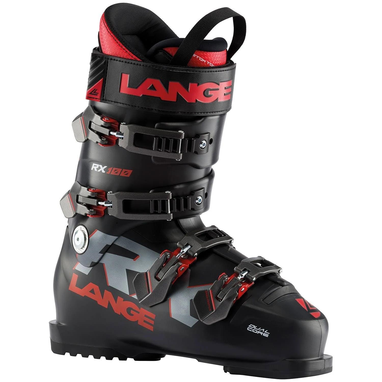 Lange RX 100 Ski Boots Black Red 29.5