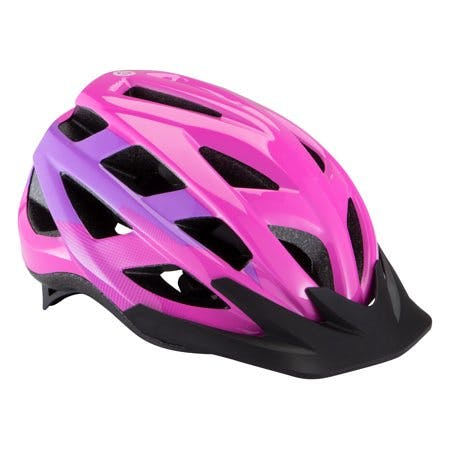 Schwinn Breeze Child Bicycle Helmet, ages 3 to 7, purple, pink, bicycling