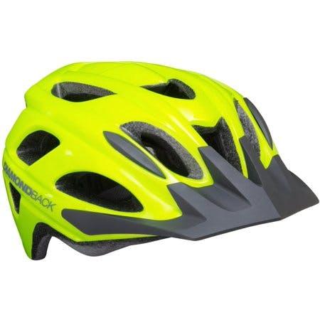 Diamondback Trace Adult Bike Helmet 55-60cm Circumference, Large - Flash Yellow