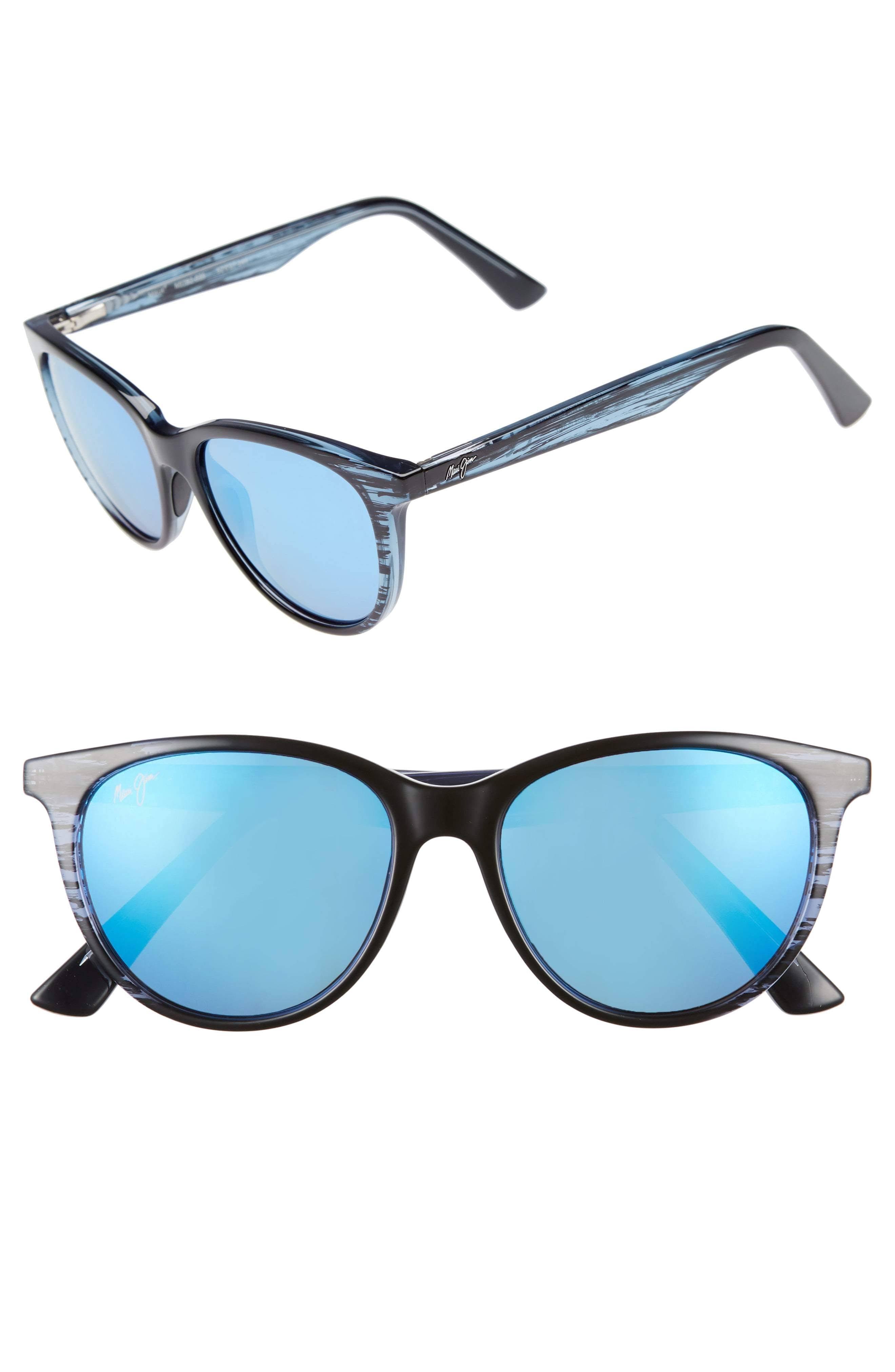 Maui Jim Cathedrals Sunglasses Blue Black Stripe / Blue Hawaii